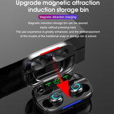 2020 Newest 8D Surround Sound TWS Earphones Wireless Bluetooth 5.0 Stereo Earbuds Sport Waterproof Headphones Touch Control Dual Headsets Mini Earbuds with 3500mAh/1200mAh LED Display Chagring Box (Monaural Version or Led Binaural Version )
