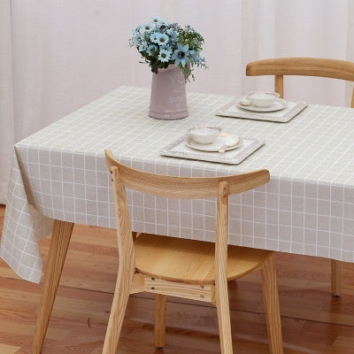 PEVA Table Cloth Disposable Oil And Anti-scalding Waterproof Tablecloth Nordic Style Home Decor
