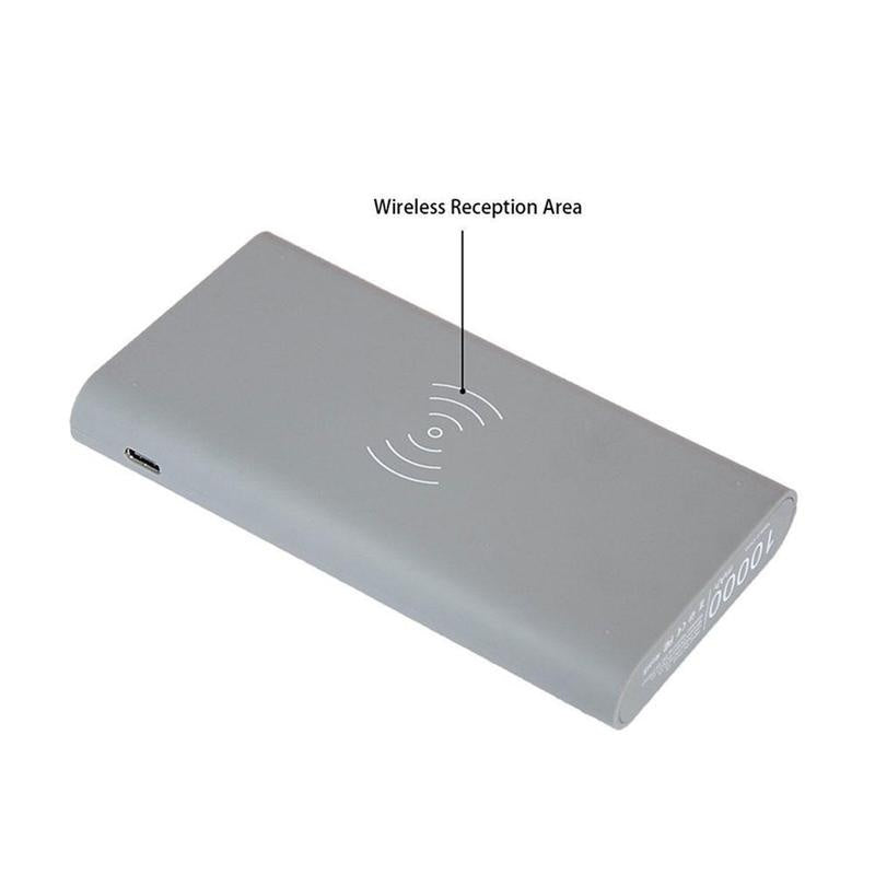 DIY 500000mAh Power Bank Wireless Charger for Phones Dual USB External Battery  Batteries not included
