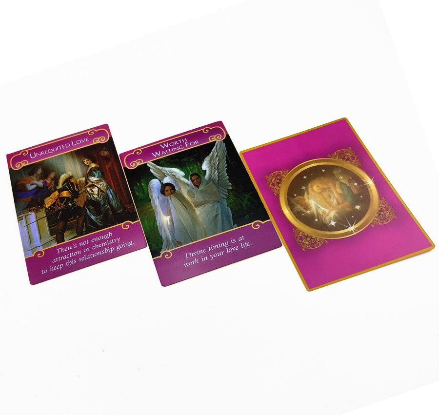 44pcs New Romance Angel Oracle Cards Tarot Cards Game Card Set Gift 101*74mm