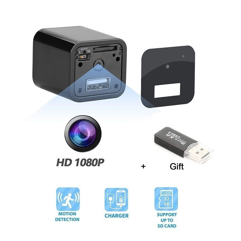 New HD 1080P Camera USB Wall Charger Adapter Video Recorder Security Camera with Card Reader