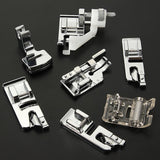 11/32Pcs Domestic Sewing Machine Foot Feet Snap On Set Presser Foot Set Ruffler Presser Feet Sewing Machine Tools