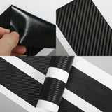 For Suzuki Swift Car Threshold Pedal Vinyl Sticker Car Door Protector 4pcs Carbon Fiber Car Accessories - Style