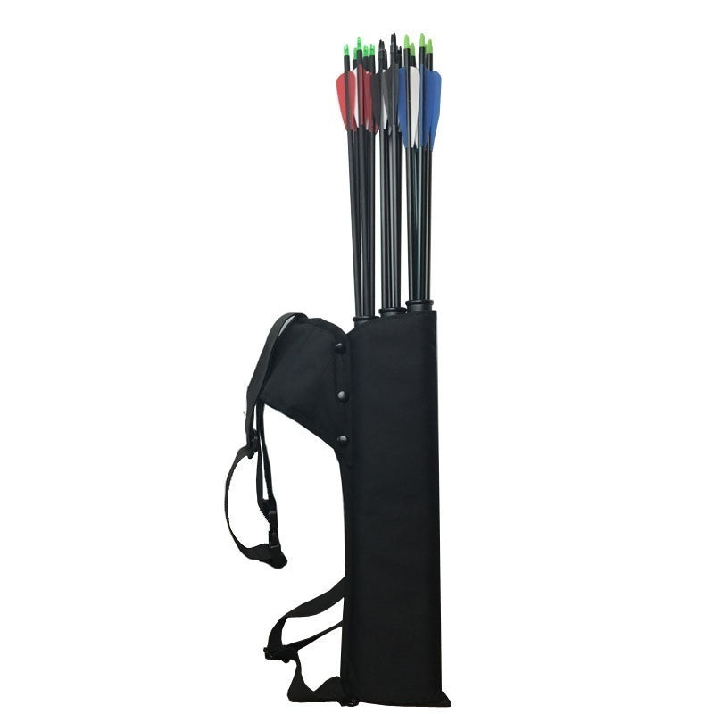 1PC Archery Black Quiver 3 Tubes Arrow Quiver Tube Arrow Holder Portable Back / Waist Strape Hunting Bag Accessories Shooting