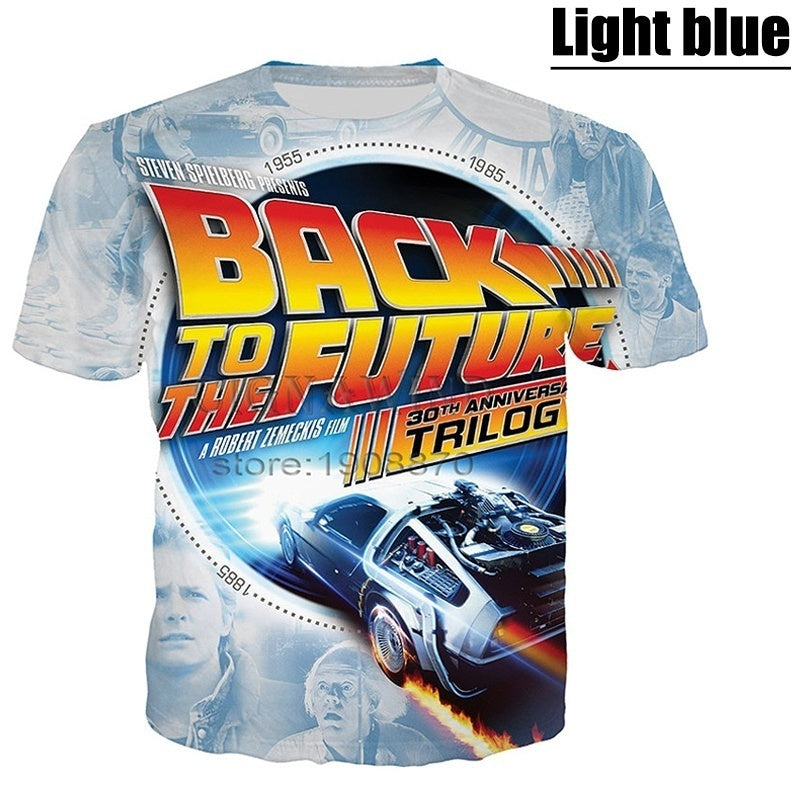 2020 New Arrival Men Women Funny 3D Printed T-Shirt Back to the Future Short Sleeve Tees