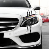 2Pcs Auto Car Sticker Reflective Monster Claw Scratch Stripe Marks Headlight Decal Car Sticker Car Decoration Car Modification
