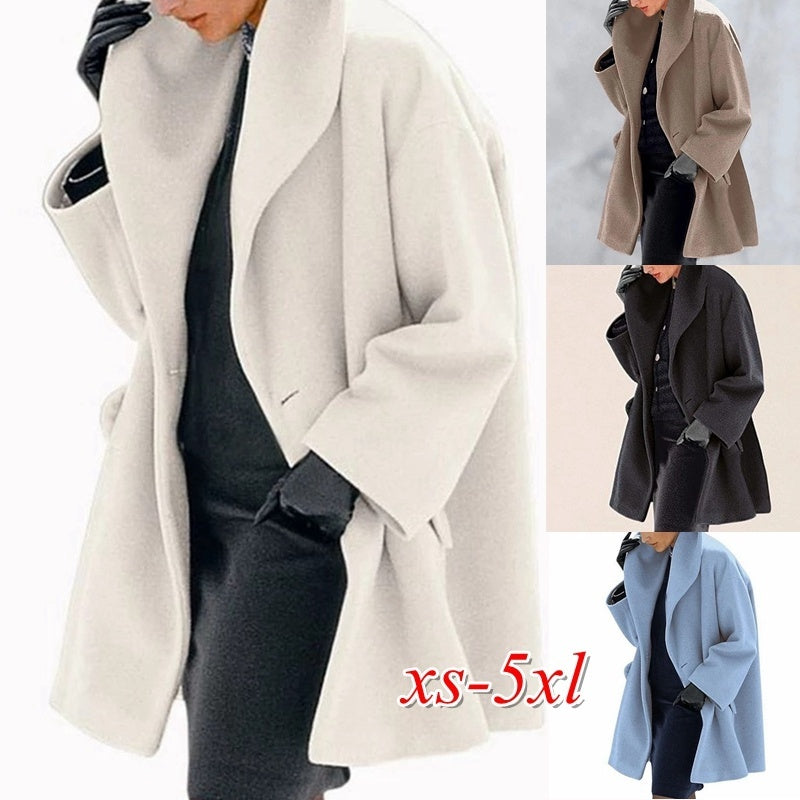 2020 New Arrival Witner Women Fashion Multi-Color Shawl Collar Coat Jacket Casual Fleece Coat Down Jacket