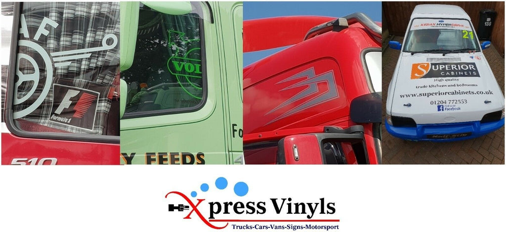 DAF window decals x 2. truck stickers graphics XF CF LF