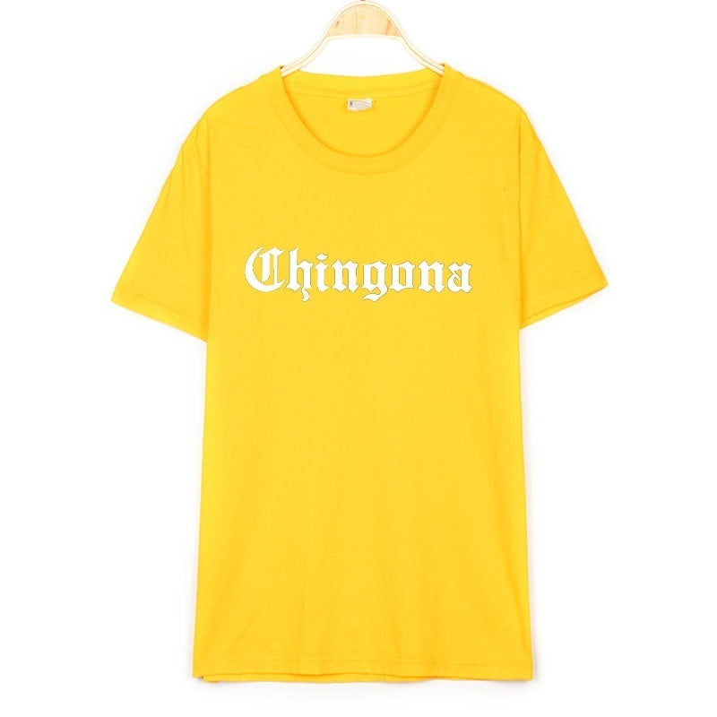Chingona Letters mexico latina Women tshirt Cotton Casual Funny t shirt For Lady Girl Top Tee Hipster Drop Ship
