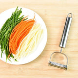 Stainless Steel Peeler Potato Cucumber Carrot Grater Vegetables Fruit Peeler Double Planing Grater Kitchen Gadget