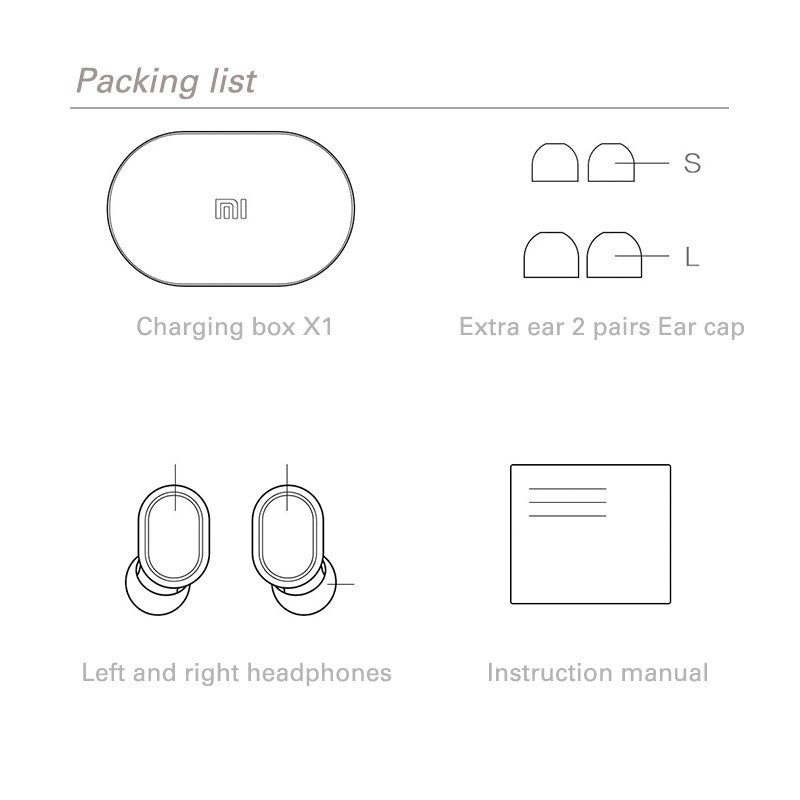 In-Stock Original Xiaomi Redmi AirDots Mini TWS Wireless Earphone Bluetooth 5.0 Earbuds DSP Active Noise Cancellation Earbuds with Charging Box