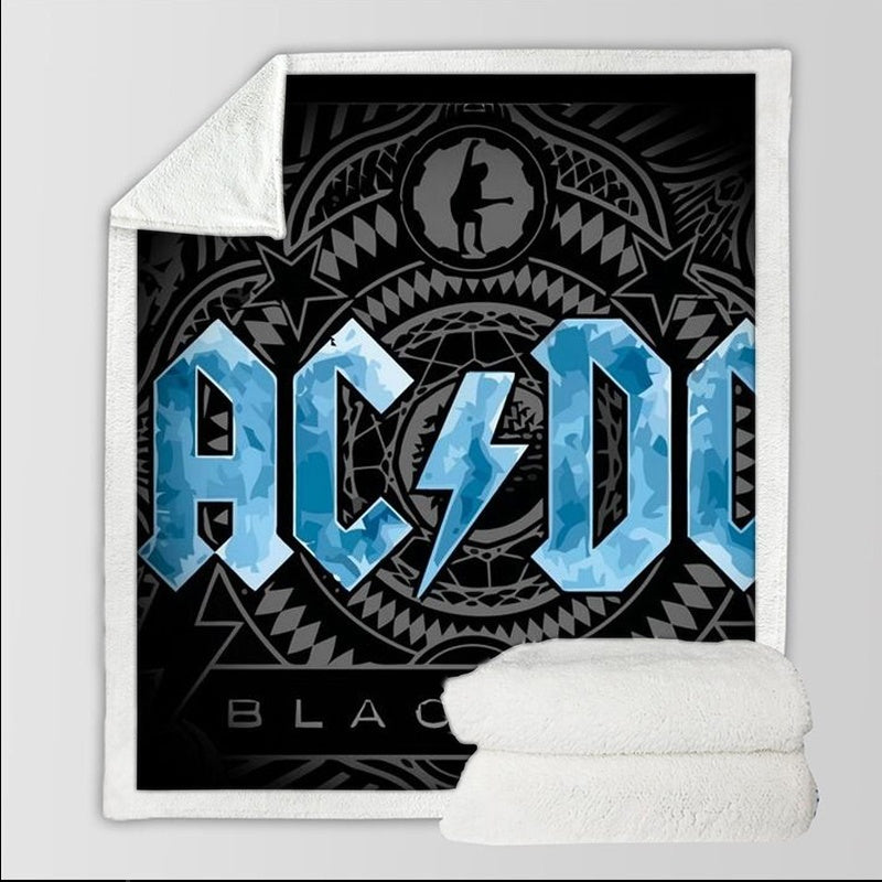 Blanket Sofa Bed Blanket Super Soft Warm ACDC Rock Band 3D Print Blanket Cover Fleece Throw Blanket