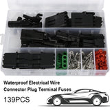 139/240/352/708Pcs Car Connector Plug Terminal Car Sealed Waterproof Electrical Wire Connector Plug Kit Car Accessories