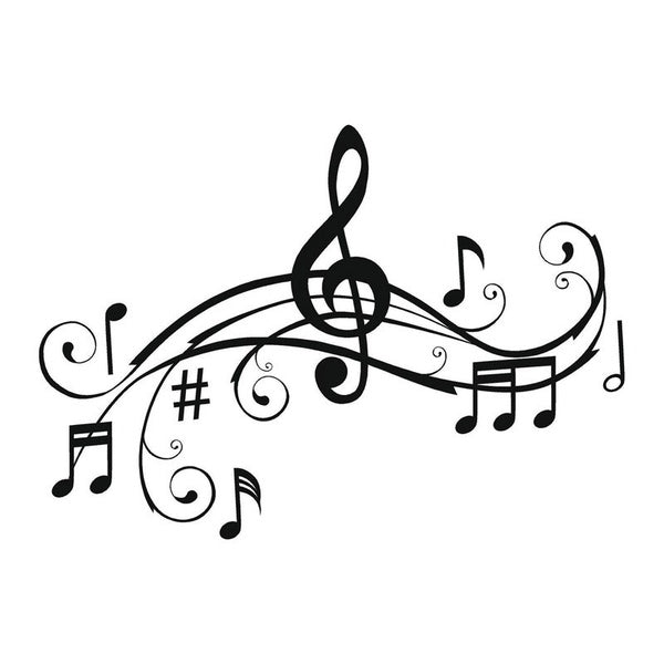 Art Music Notes Bumper Sticker Personalized Vinyl Car Decorative Accessories