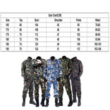Army Military Uniform Camouflage Tactical Clothing Men Special Forces Soldier Training Combat Clothes Jacket + Pant Set