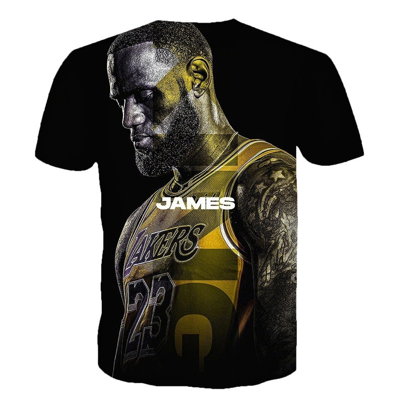 Unisex Los Angeles Basketball Star King Lebron James Summer Tee Short Sleeve Casual Summer T Shirt