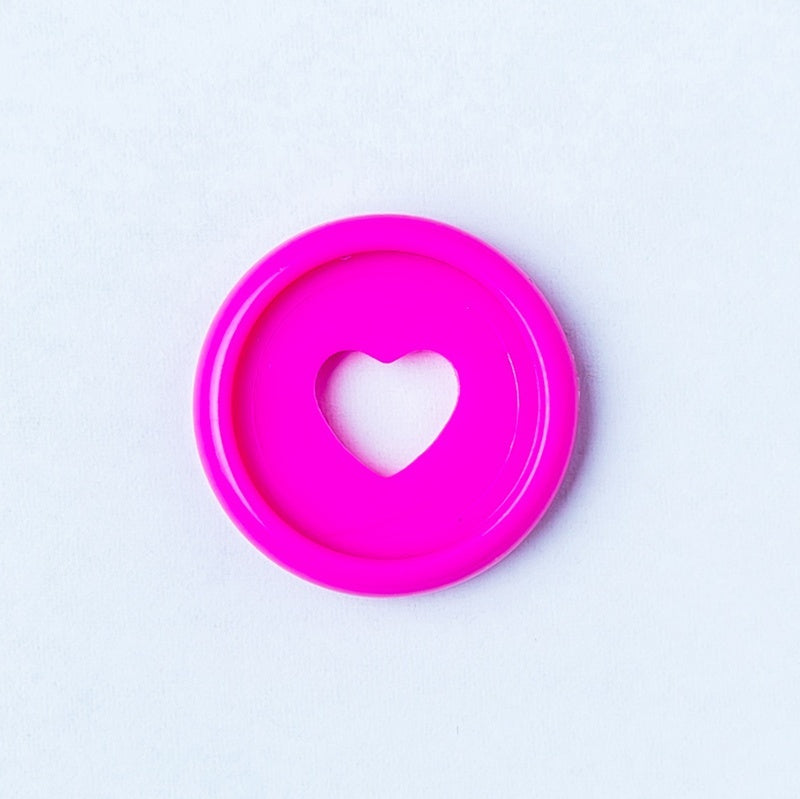 Multicolor Heart Hole Plastic Binding Buckle Disc Binding Ring 80-100 pages School Supplies Office Supplies Suitable For Mushroom Hole Notebook Binding