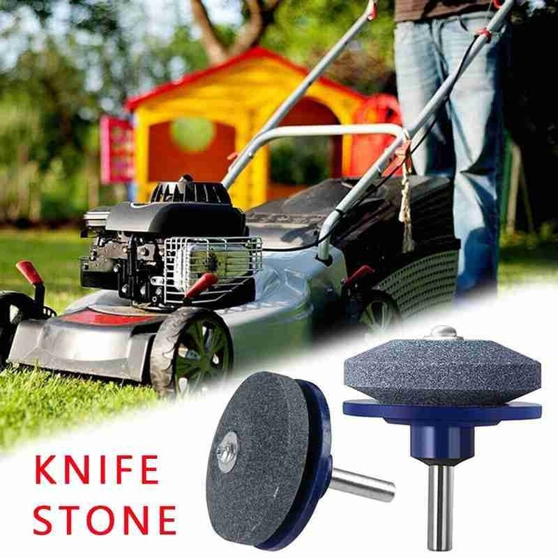 2Pcs Lawn Mower Faster Blade Sharpener Grinding Power Drill Garden Kit Universal