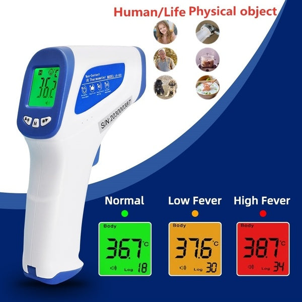 Digital Backlight LCD Temperature Gun NO Touch Infrared Forehead Thermometer Fever Body Thermometer for Adults Kids Baby Physical Object