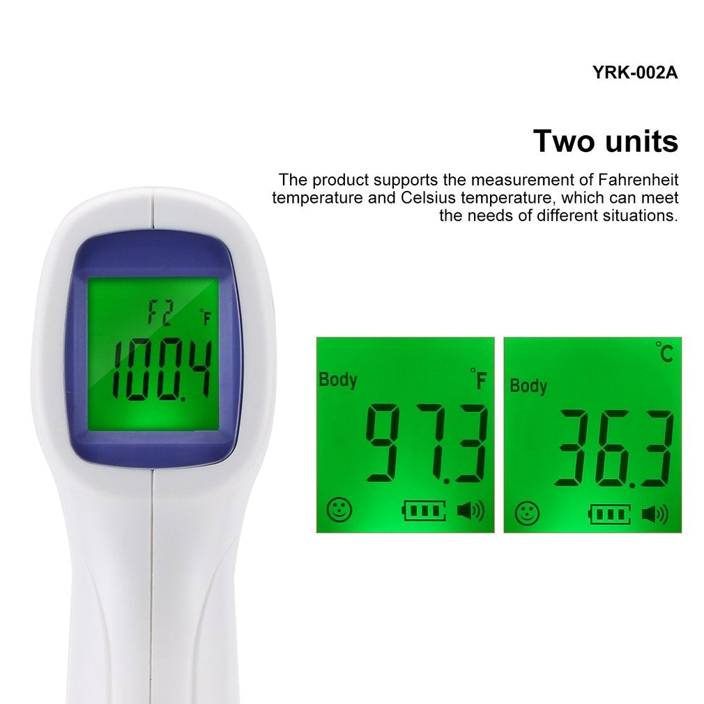 YRK-002A Non-contact Infrared Thermometer Handheld Infrared Thermometer High Precision Measures Body Temperature