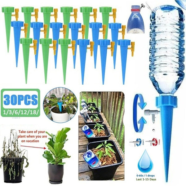 1/3/6/12/18/30Pcs Auto Drip Irrigation Watering System Automatic Watering Spike for Plants Flower Indoor Household  Plant Waterers Bottle Irrigation System