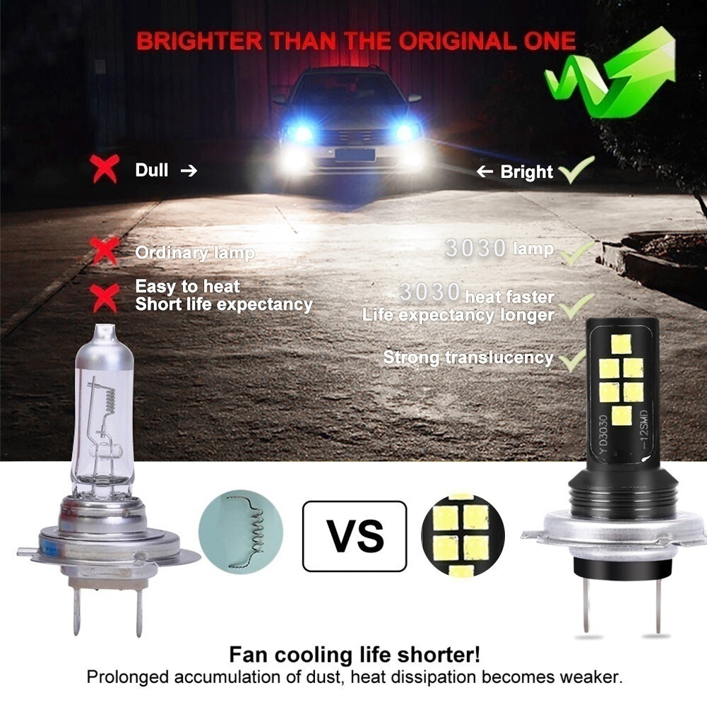 2 PCS Upgrated Bright LED Headlights 880 1156 1157 H11 H8 H9 9005 9006 HB3 HB4 H7 H1 H3 P15D H4 9003 Car Headlights Kit Motorbike Driving Bulbs