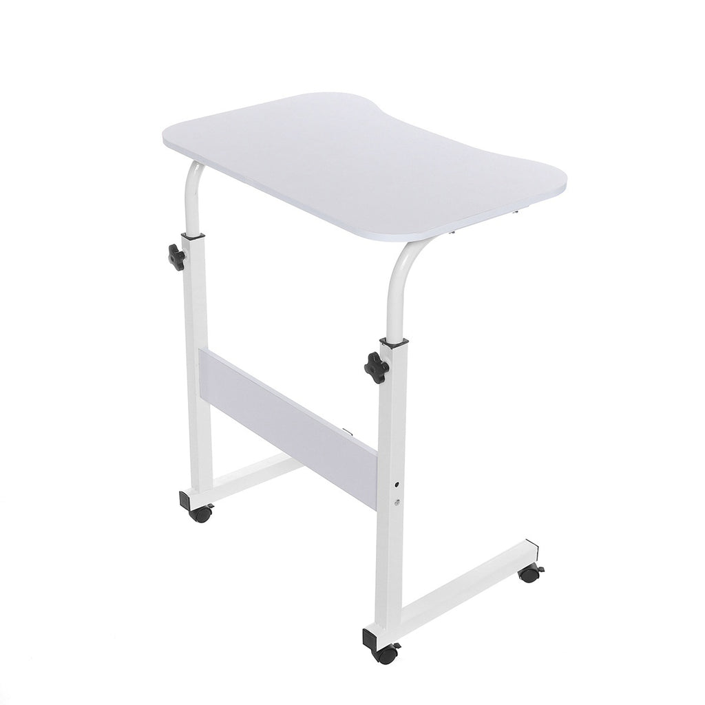 Mobile Rolling Laptop Desk Table Adjustable Height Bedside Stand Home Office
