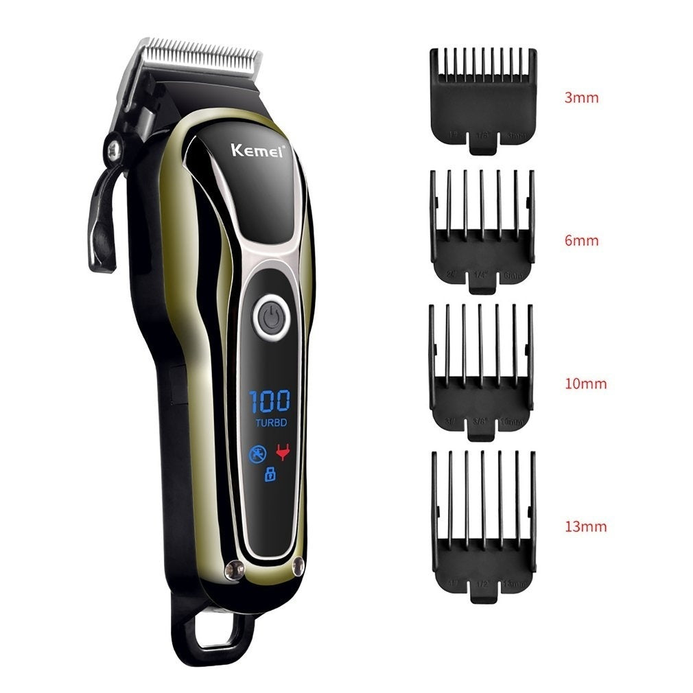 Professional Men Electric Lcd Hair Clipper Grooming Clippers Professional Trimmer Haircut Machine Barber Shaver