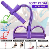 New 4 Tubes Rally Fitness Full Body Training Resietance Bands Sit Up Pull Rope for Women & Men Indoor Fitness