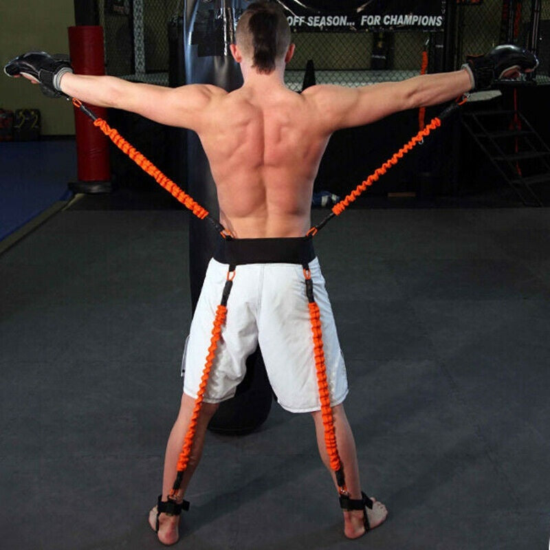 Indoor 150 Lbs Resistance Bands Boxing Crossfit Training Belt Leg Strength Agility