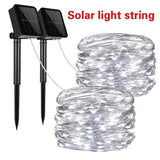 3M/5M/10M/20M 8 Modes Solar String Lights Solar Powered Solar Copper Wire Lamp Led String Lights or USB Powered Copper Wire Fairy Lights  IP65 Waterproof Indoor Outdoor Lighting for Home Garden Party Path Lawn Wedding Christmas DIY Decoration