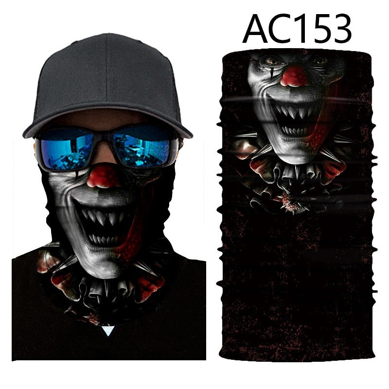 3D Digital Printing Skull Series Versatile Headscarf Mask Outdoor Riding Versatile Magic Headscarf