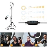 12/16/26cm Photography LED Selfie Three-speed Cold Warm Stepless Lighting Dimmable LED Ring Light  Phone Video Light Lamp With 20/110cm Tripod Ring Fill Light