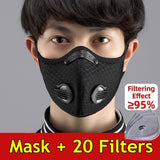 Antiviral Anti Dust Face Mask With Filter Activated Carbon