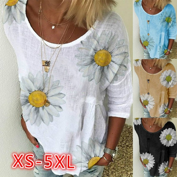 Women Summer Pure Cotton Short Sleeved T Shirt Ladies Casual Loose Plus Size T Shirt XS-5XL