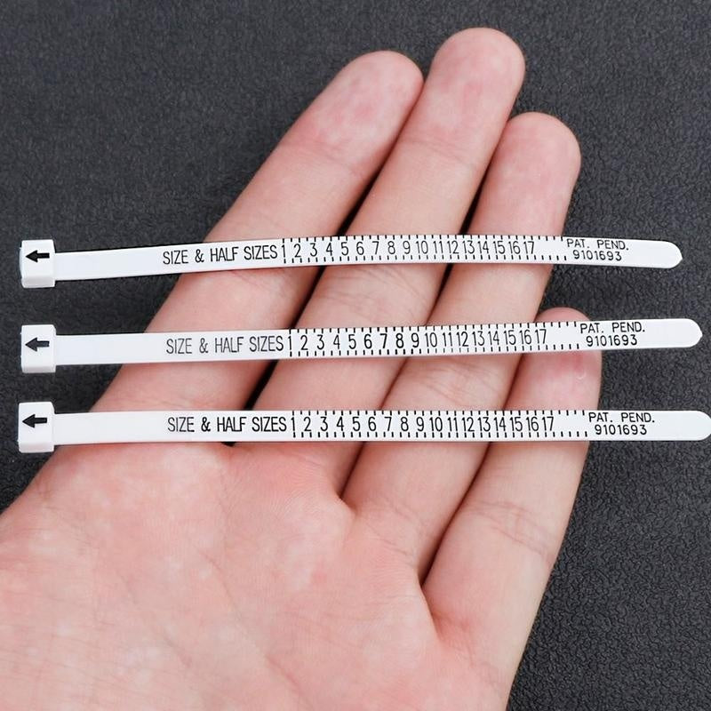 2 Pcs Professional Ring Sizer UK/US Official Finger Measure Gauge Men and Womens Sizes