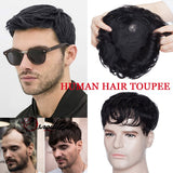 Hair Loss Rescuer Remy Human Hair Clip-In Hair Topper Human Hair Toupee for Men & Women (Base Size:16cm*19cm)