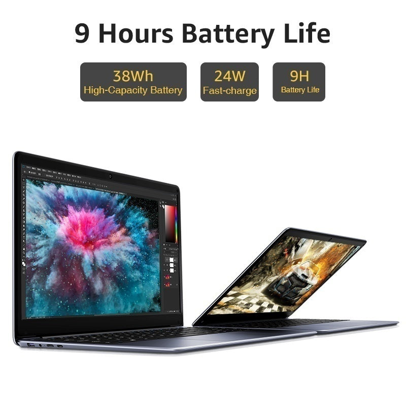CHUWI Herobook  14.1 Inch Full HD Screen Ultra-thin Notebook E8000 Quad Core 4GB RAM+64GB ROM Super Pc with Laptop Bag