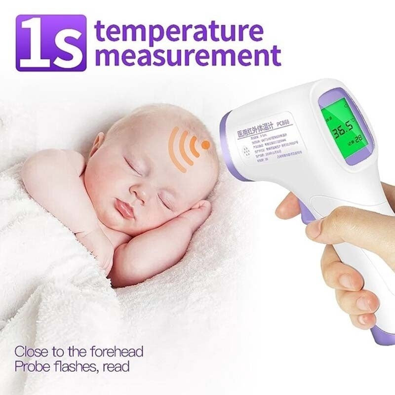 Choose in 3 Colors LCD Digital Forehead Ear Fever Household Portable Thermometer for Family Care Non-contact IR Infrared Thermometer Forehead Body Temperature Meter
