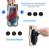 FDGAO 10W Qi Fast Wireless Charger Car Mount Automatic Clamping 360¡ã Rotation Phone Holder Charger for Iphone Samsung Android Mobile Phone