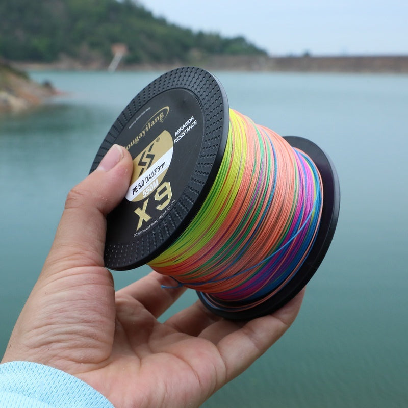 Sougayilang 9 Strands Weave Fishing Line Super Strong PE Fishing Line with 77KG Test Strength for Travel Fishing Saltwater Freshwater Fishing