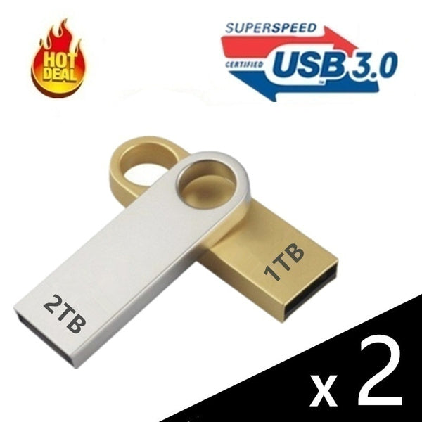 New USB 3.0 Flash Drives Metal USB Flash Drives 1T/2T Pen Drive Pendrive Flash Memory USB Stick U Disk Storage