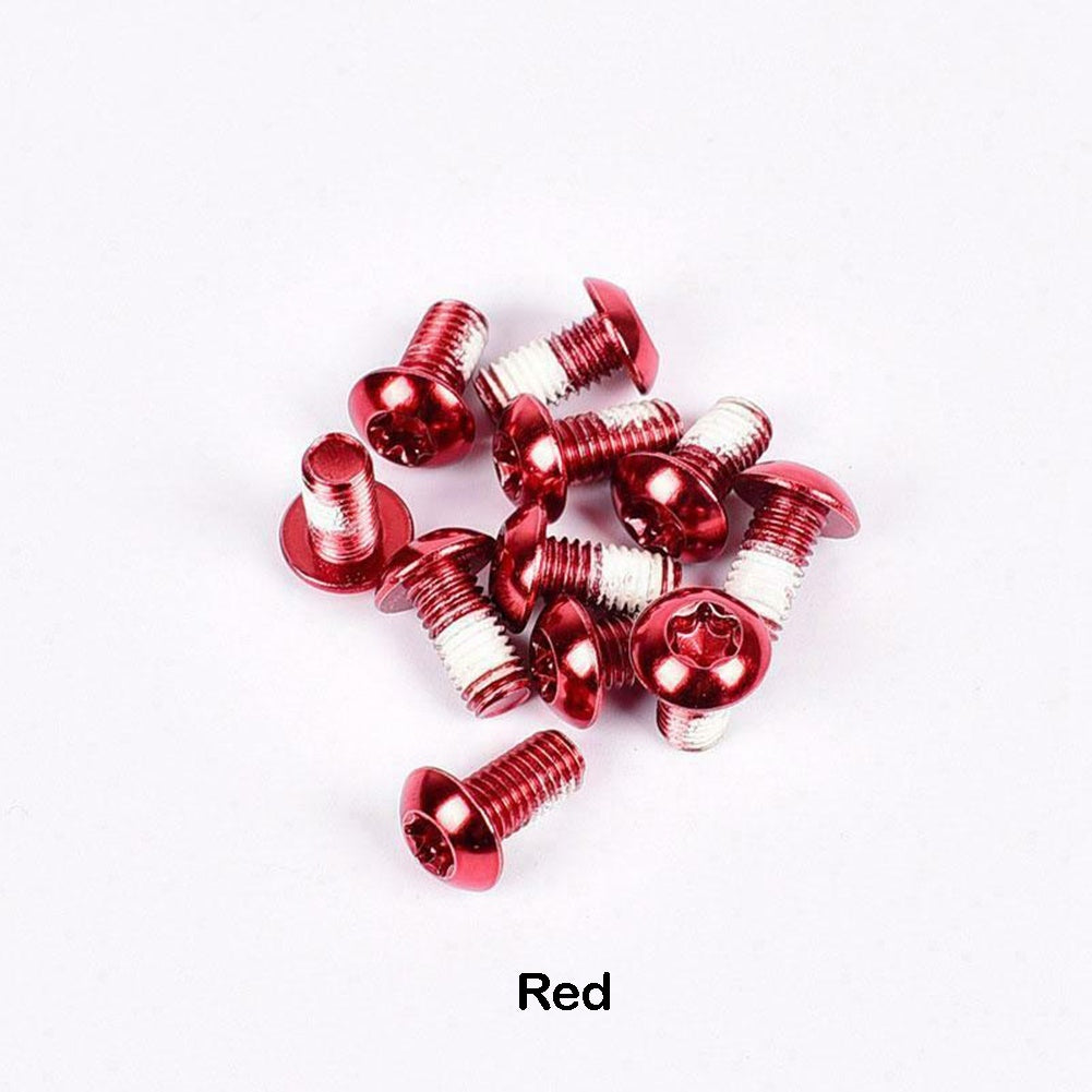 12Pcs Mountain Bike Disc Brake Rotor Bolts MTB Bicycle M510mm Brake Rotor Screws