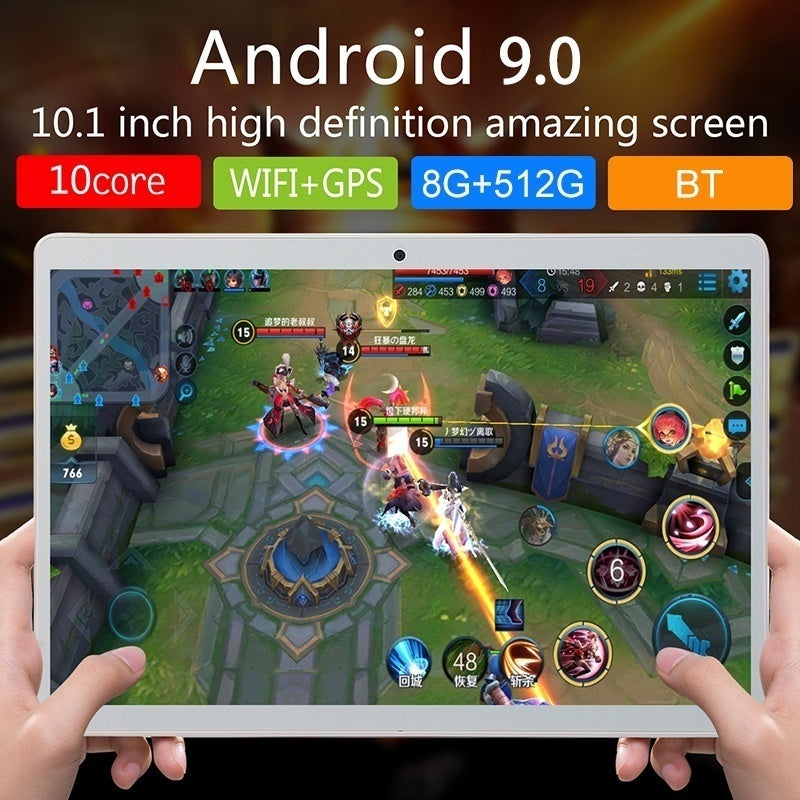 2020 Newest Tablets 10.1inch 8G+512G WiFi Tablet Android 1960 x 1080 Bluetooth Game Tablet Computer With Dual Camera Support Dual SIM Card PK Samsung tablet ipad Pro 2020