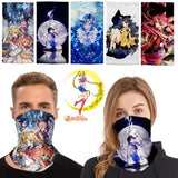 Sailor Moon Pattern Unisex Magic Scarf Dust Mask Quick-drying Sunscreen Cap Outdoor Mask Reusable Scarf Bandana Face Masks