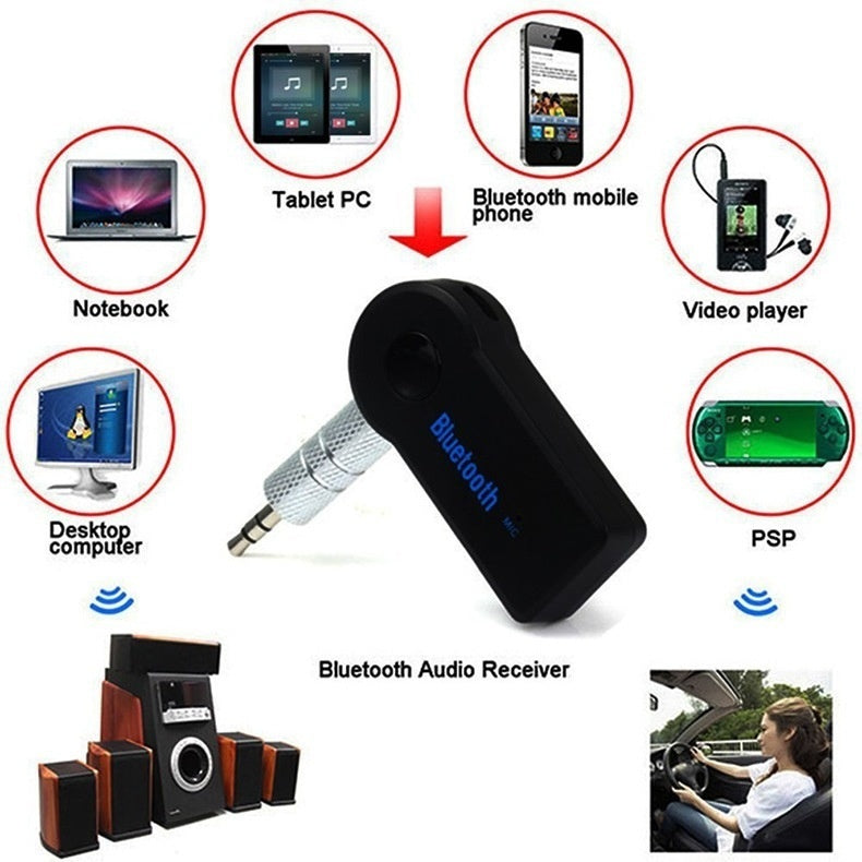 Hands Free 4.1 Bluetooth Audio Music Receiver Adapter 3.5mm