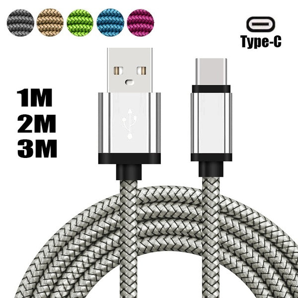 USB Type C Cable Fast Charging USb C Cables Type-c Data  Charger USB C For Samsung S9 Note 9 Huawei P20 Pro Xiaomi 1m/2m/3m