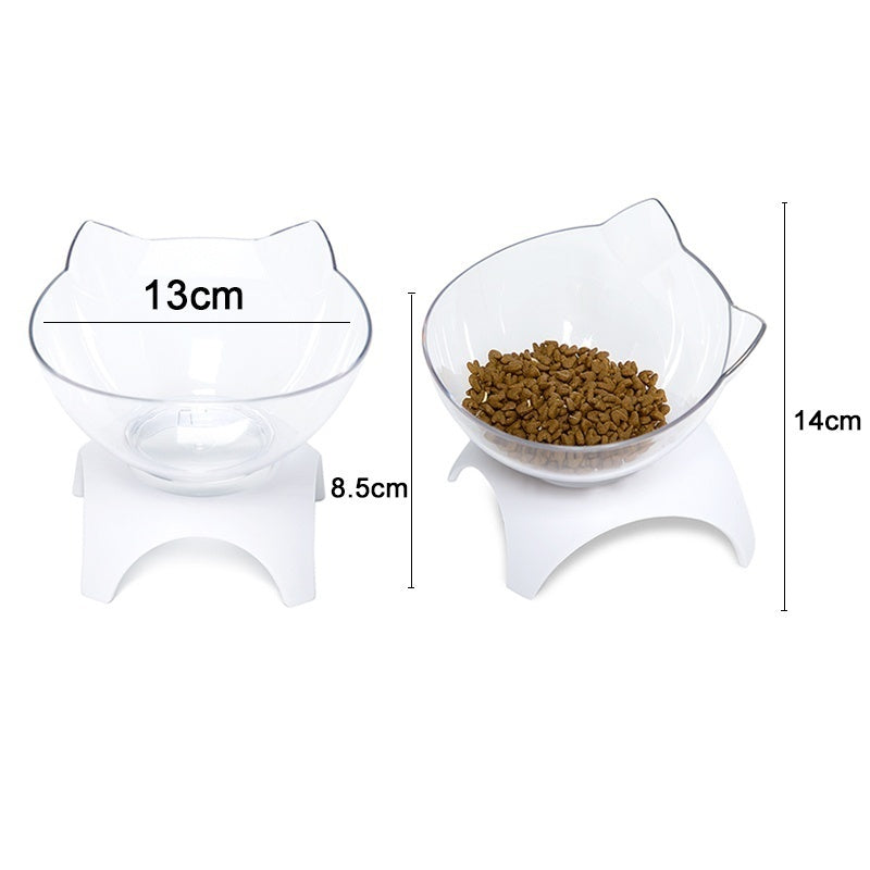 Non-slip Pet Cat Bowl Double Cat Bowl With Raised Stand Pet Food And Water Bowls For Cats Dogs Feeders Pet Bowl Supplies