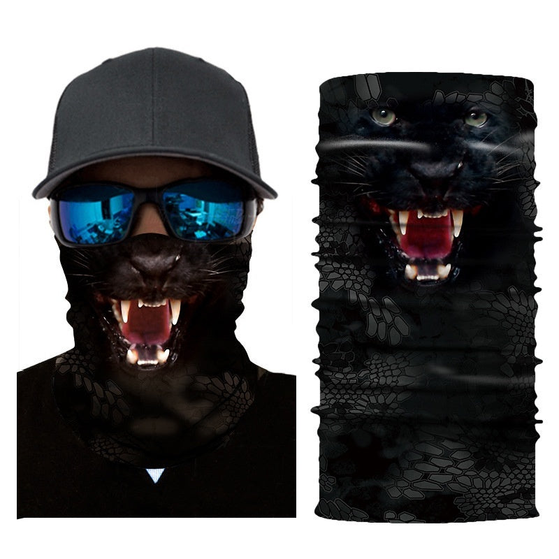 3D Animal Neck Gaiter Warmer Windproof Face Mask Scarf for Ski Halloween Costume