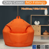 Waterproof Large Bean Bag Chair Sofa Cover Indoor Outdoor Gaming Gamer Seat No Filler